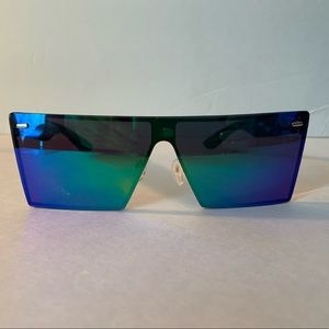 Square rainbow lens sunglasses